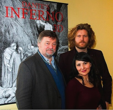 Left: producer David Bush, right: director Simone Orlandini, right front: producer Teresina Moscatiello
