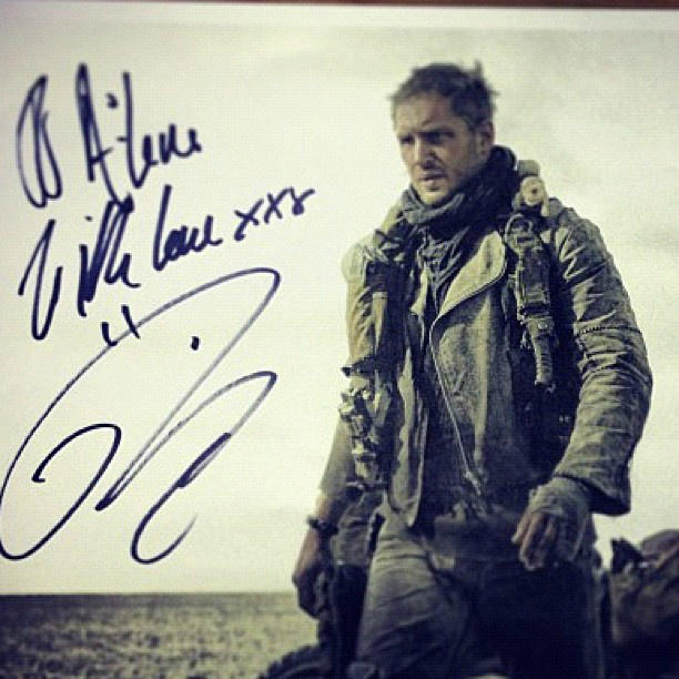 Tom Hardy Mad Max Fury Road signed photo skip