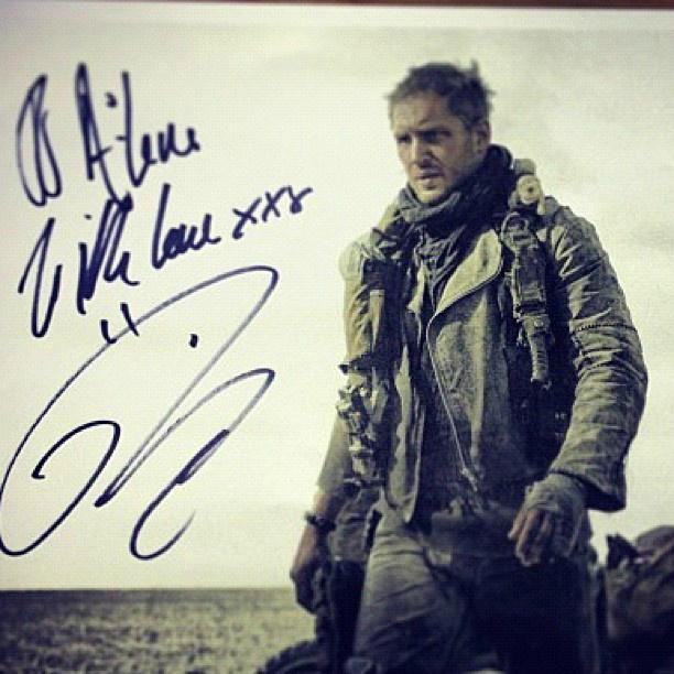 Tom Hardy Mad Max Fury Road signed photo skip