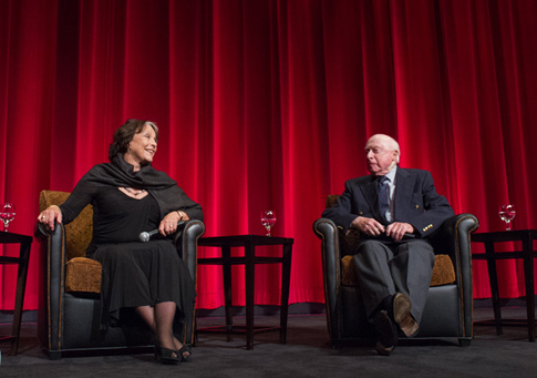 Claire Bloom and Norman Lloyd during the q&a right before a screening of 'Limelight'—part of the Jack Oakie Celebration of Comedy Film.