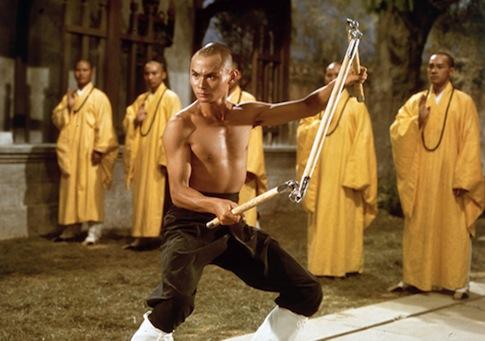 """Gordon Liu (Lau Kar-fei) in Lau Kar-leung's """"The 36th Chamber of Shaolin"""""""