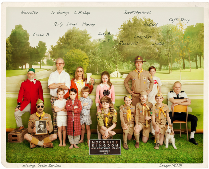Moonrise Kingdom, vintage team photo