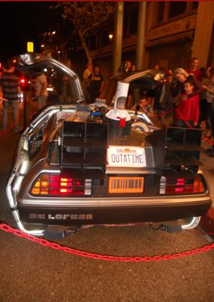 OUTATIME The DeLorean license plate