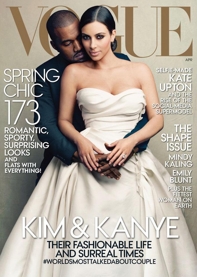 Vogue Kanye West Kim Kardashian