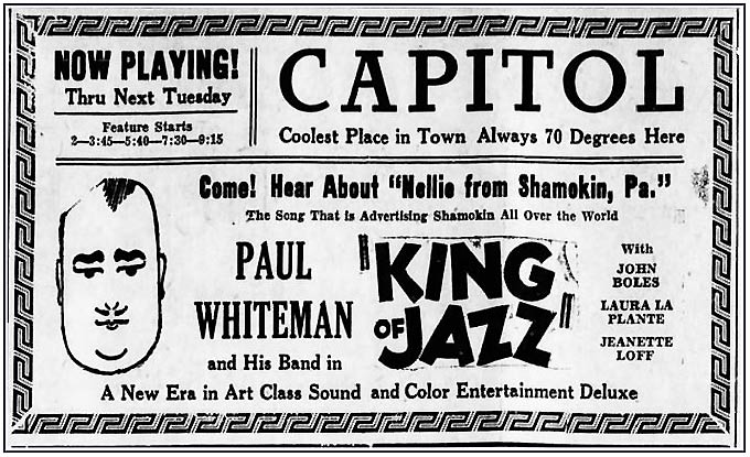 King of Jazz Ad-Playing at the Capital