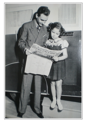 Young A.C. with an even younger Shirley Temple.