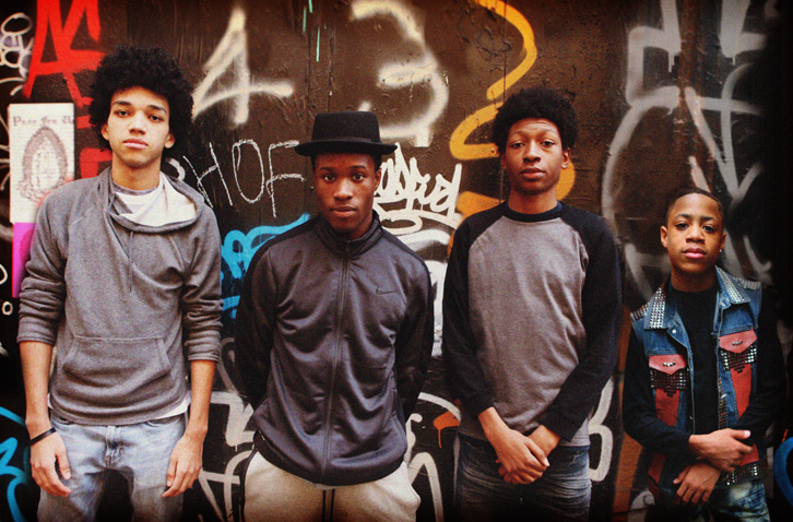 Justice Smith, Shameik Moore, Skylan Brooks & Tremaine Brown Jr.