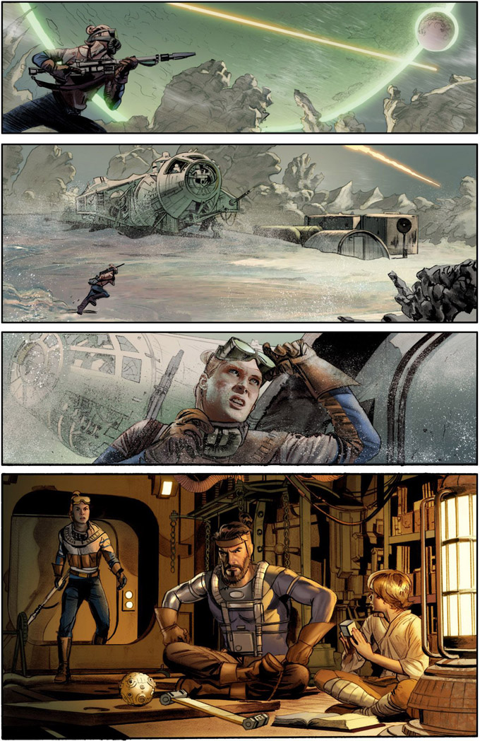 'The Star Wars' Comic Panels skip crop