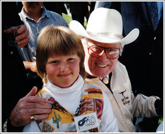 My daughter Jessie was 7 when she posed with Clayton Moore at a Lone Ranger Festival in Lone Pine, California in 1993—the 60th anniversary of the character's creation