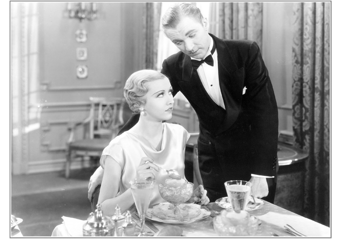 """Evalyn Knapp and Lee Tracy in """"The Night Mayor"""" (1932)"""