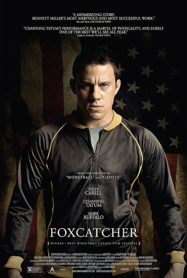 "Channing Tatum in ""Foxcatcher"" teaser poster."