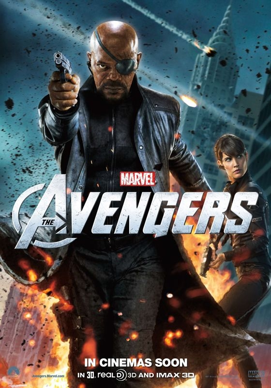 The Avengers Nick Fury Maria Hill Poster