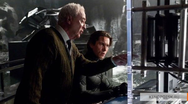 Michael Caine Christian Bale The Dark Knight Rises skip crop
