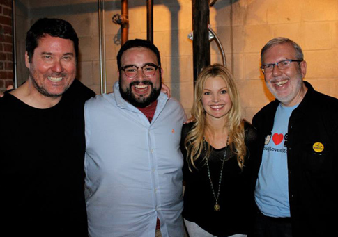 """Doug Loves Movies"" at Comic-Con with Doug Benson, The Nerdist's Matt Mira, and Geek Nation's Clare Kramer."