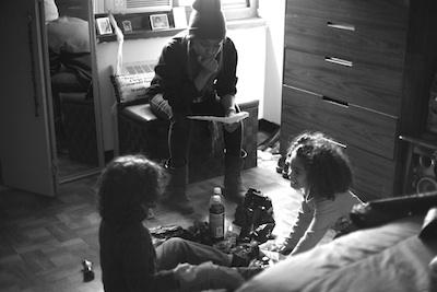 A.V. Rockwell on set of 'Kids'