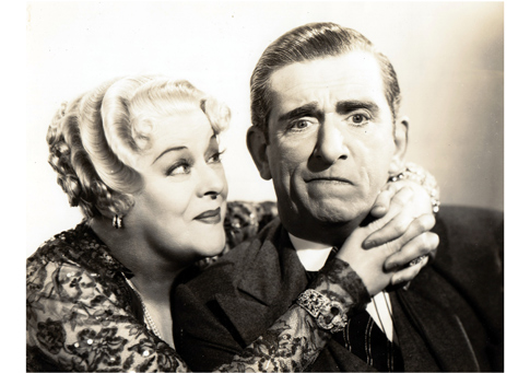 "Two supreme scene-stealers: Mary Boland with Edward Everett Horton in ""Danger—Love at Work"" (1937), airing this Sunday on TCM."