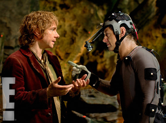 The Hobbit Martin Freeman Andy Serkis skip crop