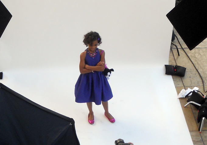 Quvenzhané Wallis, the youngest nominee on this year's Oscar ballot, is becoming an expert at striking a pose for the camera.