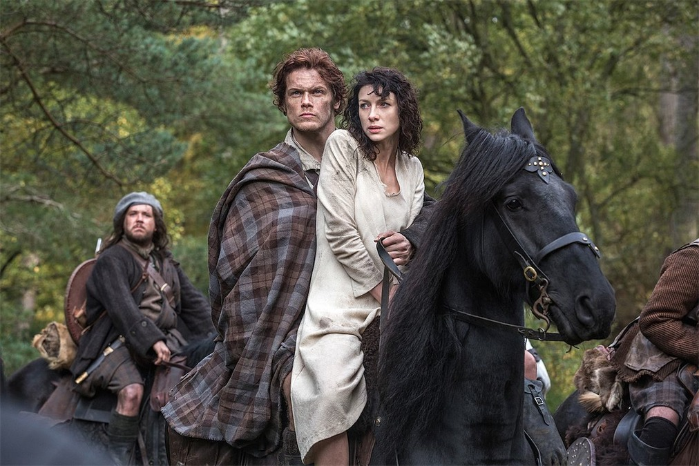 "Caitriona Balfe and Sam Heughan in ""Outlander"""