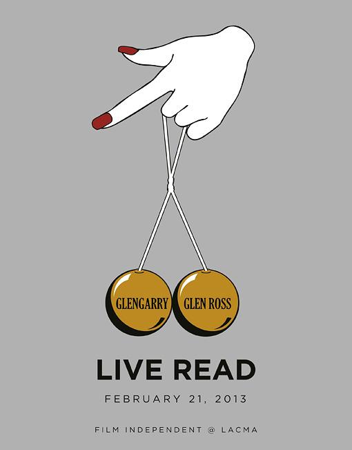 Glengarry Glen Ross Live Read Poster
