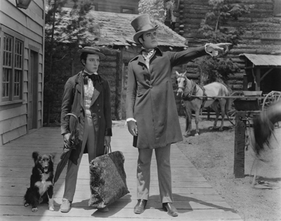 "A scene from Buster Keaton's wonderfully funny ""Our Hospitality"""