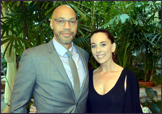 "At the AFI luncheon, two of this year's top screenwriters meet: John Ridley (""12 Years a Slave"") and Kelly Marcel (""Saving Mr. Banks"")"