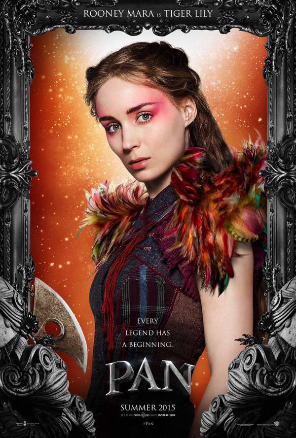 Pan, poster, Rooney Mara