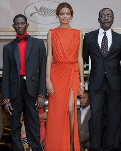 Mahamat-Saleh-Haroun and his cast at the Cannes Film Festival