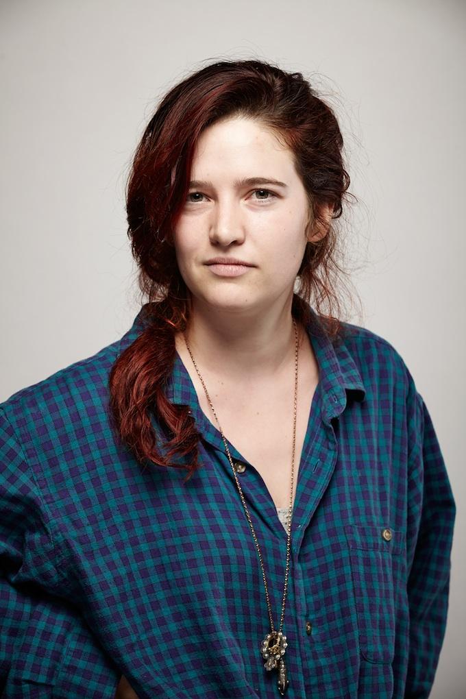 "Bérénice Eveno, cinematographer of ""Verbatim"" at the Canon Craft Cocktails Portrait Studio at the 2014 Sundance Film Festival"