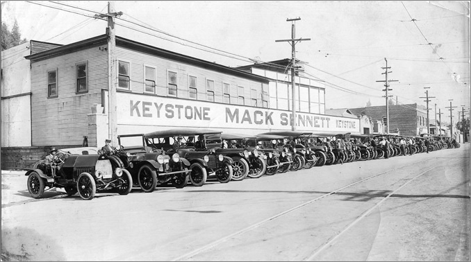The Keystone Studios in Edendale (now Glendale) circa 1917; courtesy of Steve Rydzewski