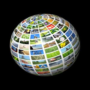 VOD stock photo - globe of images - small