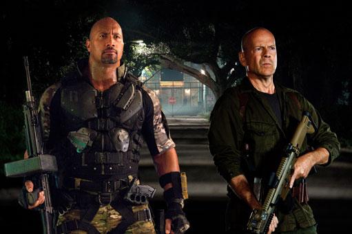 Dwayne Johnson Bruce Willis G.I. Joe Retalitation skip crop