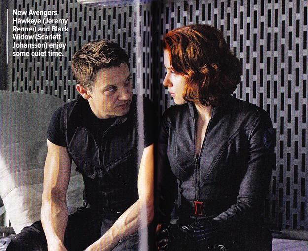 The Avengers Black Widow Hawkeye Scan