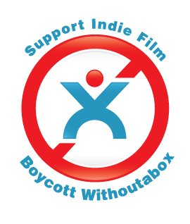 Logo for the Facebook page advocating the boycott of Withoutabox.