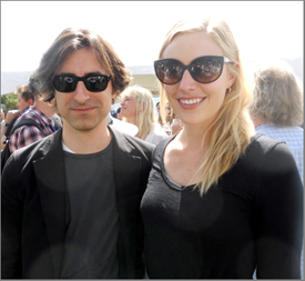 Noah Baumbach and his muse Greta Gerwig at an opening-day brunch; their film Frances Ha was especially well received.