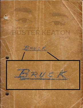 Buster Keaton script-The General