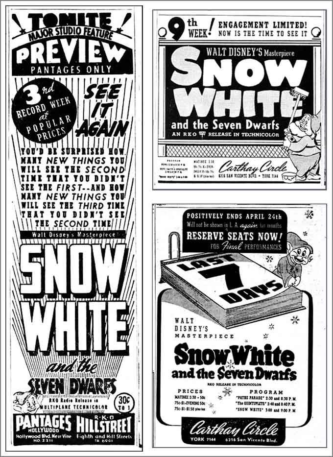 Snow White-Three Ads