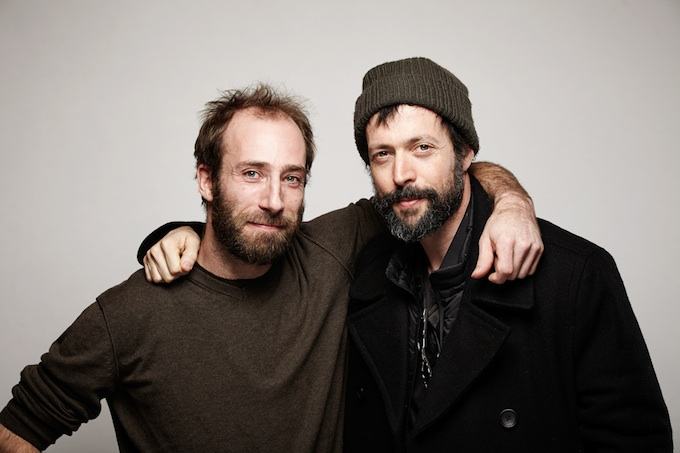 """Armin Dierolf and Noaz Deshe, cinematographers of """"White Shadow"""" at the Canon Craft Cocktails Portrait Studio at the 2014 Sundance Film Festival"""