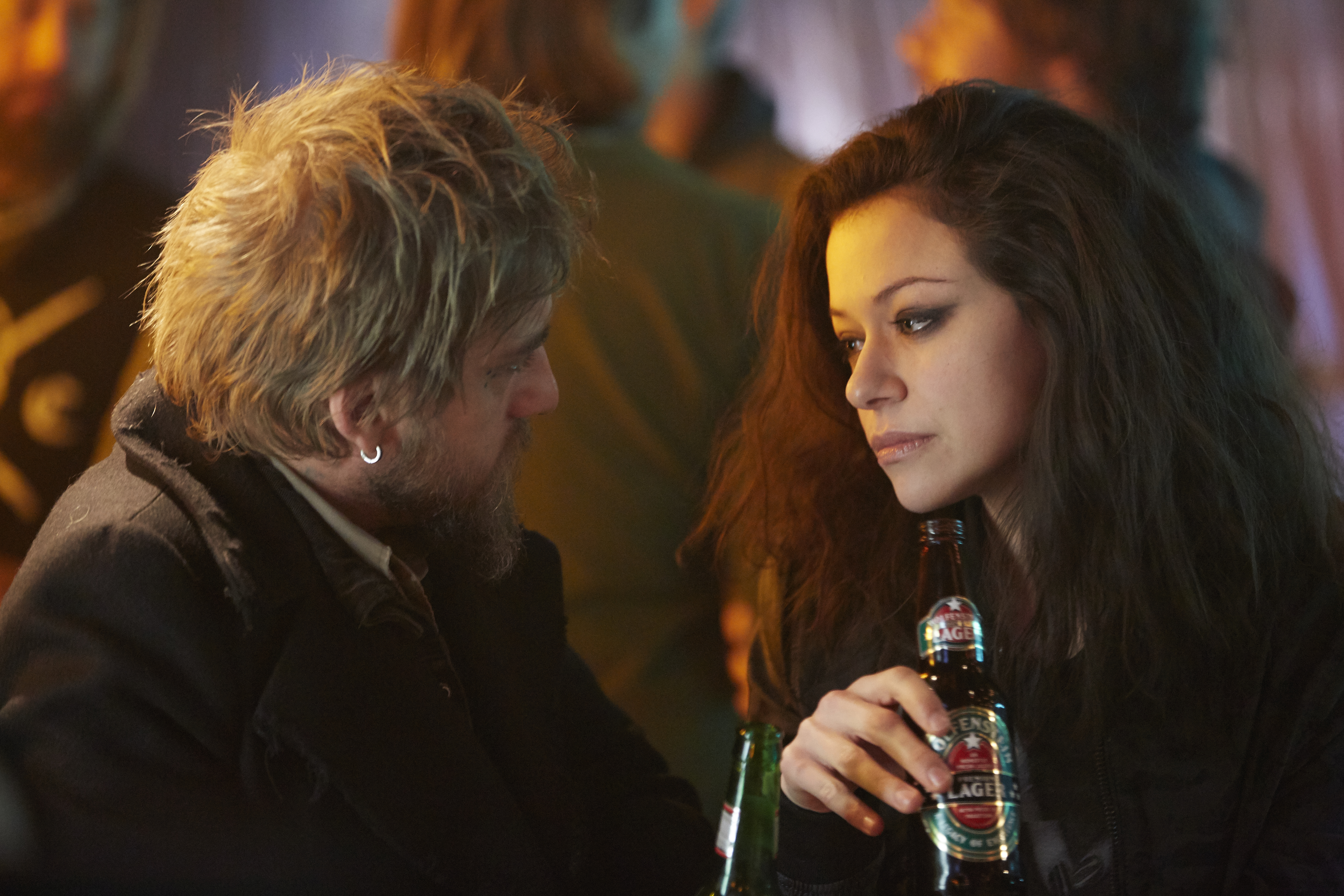"""Joel Thomas Hynes and Tatiana Maslany in """"Orphan Black."""""""