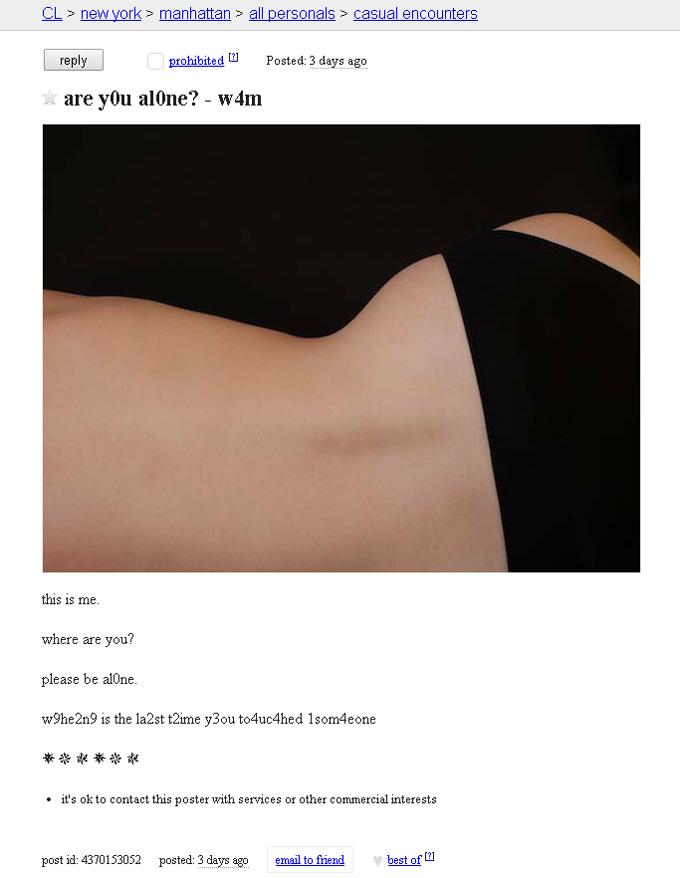 Under The Skin Craigslist