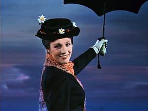 Julie Andrews as 'Mary Poppins'