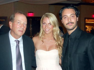 Stephen Bogart, his daughter Brooke, and Jack Huston at the Casablanca Ball.