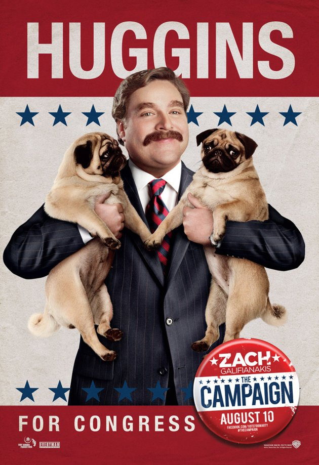 Zach Galifianakis, The Campaign poster (Skip crop)