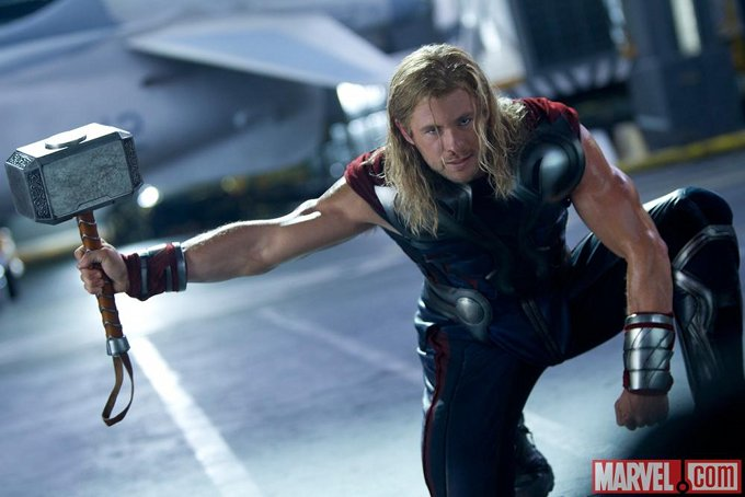 The Avengers Chris Hemsworth skip crop