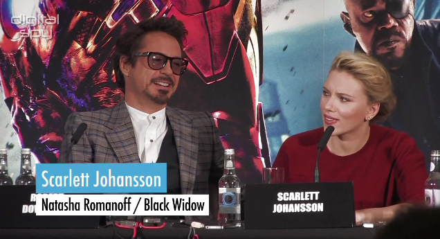 Scarlett J at press conference