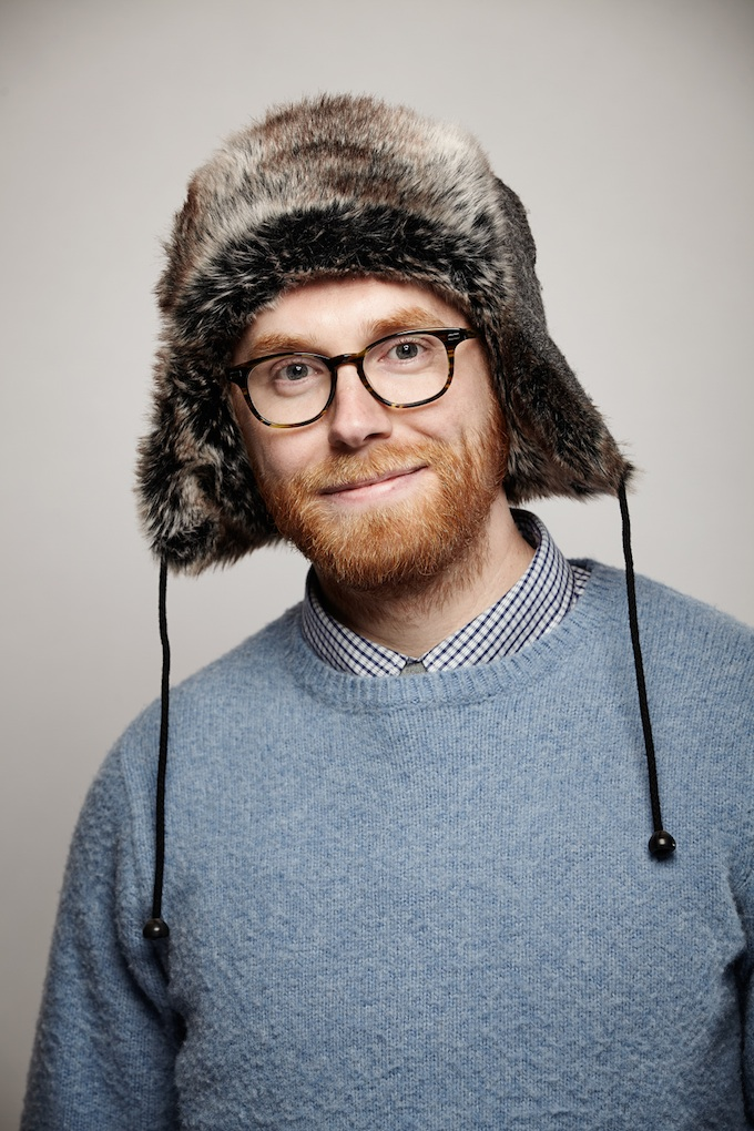 """Andrew Reed, cinematographer of """"Land Ho"""" at the Canon Craft Cocktails Portrait Studio at the 2014 Sundance Film Festival"""
