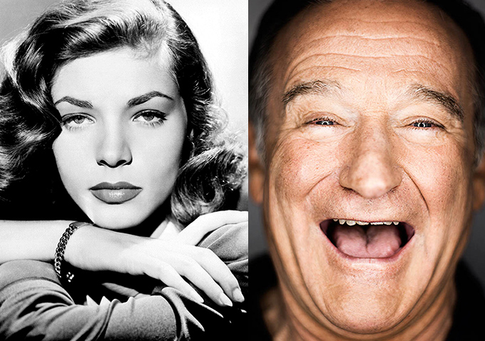 Lauren Bacall and Robin Williams