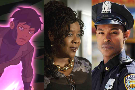 (l to r) Rocket from Young Justice; Loretta Divine in The Client List; Harold House Moore of NYC 22