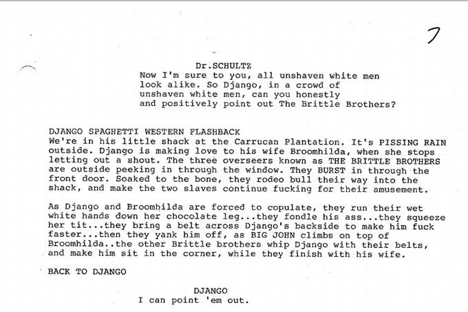 Django Unchained script excerpt skip