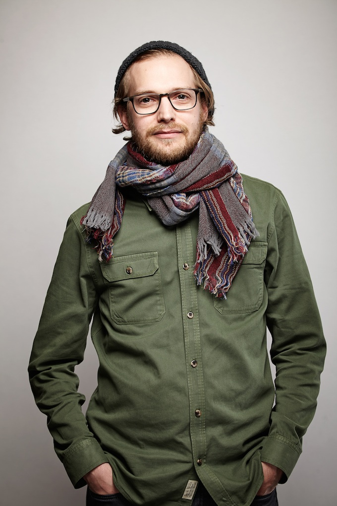 "Kevin Ritchie, cinematographer of ""What's He Projecting in There?"" at the Canon Craft Cocktails Portrait Studio at the 2014 Sundance Film Festival"